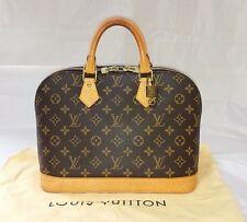 Authentic Louis Vuitton Monogram Alma Hand Bag Purse w/ LV Sleeper Free Shipping