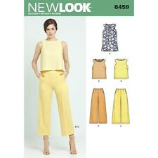 NEW LOOK SEWING PATTERN MISSES' TUNIC OR TOP & CROPPED PANTS TROUSERS 8-20 6459
