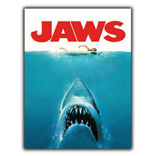 JAWS METAL SIGN WALL PLAQUE Retro Film Movie Advert poster print decor