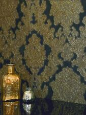 VICENZA DAMASK WALLPAPER - BLACK GOLD - ARTHOUSE 270405 NEW ITALIAN