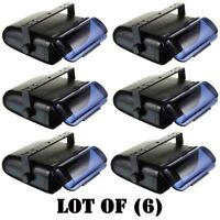 Lot of (6) Pyle Universal Marine Full Stereo Housing Cover Wired Casing (Black)