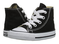 NEW INFANT TODDLER CONVERSE CHUCK TAYLOR ALL STAR HI BLACK 7J231 ORG SO CUTE