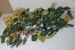 Bulk Vintage Army Plastic Toy Soldiers Buildings Plants Vehicles Tanks