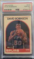 David Robinson Spurs 1989 Hoops Basketball #310 RC Rookie Card - PSA 10 GEM MINT