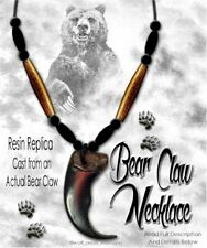 BEAR GRIZZLY CLAW NECKLACE WILD MOUNTAIN MAN RENDEZVOUS POW WOW - FREE SHIP #G2'