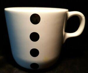 Black Polka Dot IKEA Coffee Mug Tea Cup