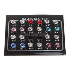 Kristall Strass Magnet Ohrringe ohne Ohrloch 6 Farbe für Weihnachtsgeschenke