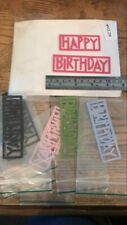 "Scrapbooking Die cut Happy Birthday Shape "" X 7 Sets"