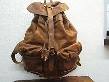Ralph Lauren Double RL Indigo Leather Tan Backpack(J)