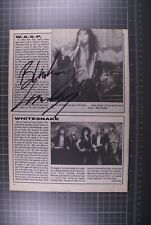 More details for wasp blackie lawless signed magazine page