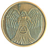 Angel Antique Bronze AA coin recovery medallion token chip