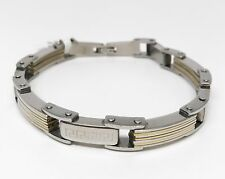 Two Toned Chain Style Stainless Steel Man's Bracelet