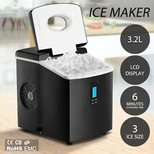 3.2L Portable Cube Ice Maker Machine Commercial Home Easy Fast Auto Snow LCD BK