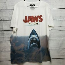 Jaws Universal Studios Movie Poster All Over Shark Print Horror T-shirt Size XXL