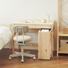 """New MUJI Pine Wood Cabinet Table Storage w/ wheels 9.4x21x22.8"""" Japan DHL Fast"""