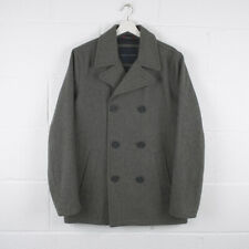 Vintage TOMMY HILFIGER Grey Heavy Wool Pea Coat Size Mens Small /R370478