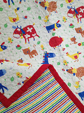 Boys Girls Cotton Quilted Baby Farmyard Throw Rug Linens N Things