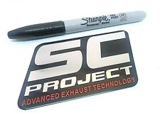 SC PROJECT 3D Exhaust Heat Proof 100mm Aluminium Sticker Decal Motorcycle