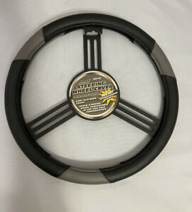 Carbon Fiber Black/Gray Custom Grip Steering Wheel Cover (fit Chevrolet )