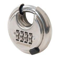 Silverline 926157 Cadenas À Code 4 chiffres en Acier inox