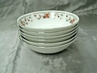 "Vtg Sheffield ANNIVERSARY Set of 6-6 1/4"" Cereal Bowls Fine China Japan EC"