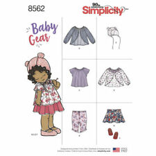 Simplicity Sewing Pattern 8562 Babies XXS-L Pants Top Jacket Skirt Slippers Hat