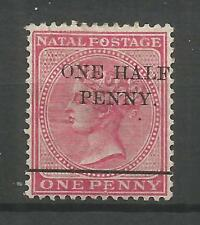 "NATAL SOUTH AFRICA, 1895, SG 104a, VARIETY: NO HYPHEN AFTER ""HALF"" MLH, SG 120,-"