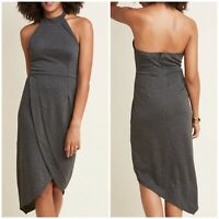 ModCloth Fervour Exceptional Angles Sheath Halter Dress Gray Size L Sleeveless