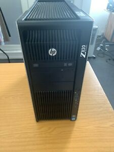 HP Z820 workstation 2 x E5 2630 2.6 8 core 64gb 512ssd dvdrw firer v5900 win 10