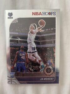 Ja Morant NBA Hoops Rookie Card Premium Stock