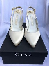 Gina Ivory Satin Wedding Shoes - UK size 4.5
