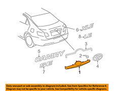 TOYOTA OEM 07-11 Camry Trunk Lid-License Molding 7681133130B1