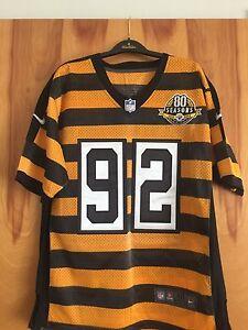 STEELERS James Harrison 80 Season Anniv. Jersey Size 40 NIKE...