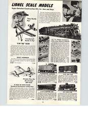 1942 PAPER AD 7 PG Lionel Electric Toy Train Sets NYC Hudson 027 Rail King Crane