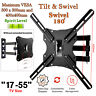 "TV Wall Mount Bracket Shelf Tilt & Swivel Flat Plasma LED 17 22 30 40 50 55"" UK"
