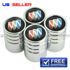 BUICK VALVE STEM CAPS WHEEL TIRE CHROME - US SELLER VE49
