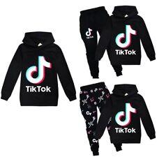 Kids Tik Tok Children Hoodies Sweatshirt Hooded Top Pant Tracksuit Casual Outfit