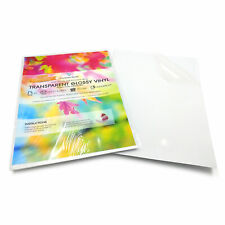A4 Self Adhesive Waterproof Transparent Vinyl Stickers Printable Glossy Labels