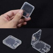 10X Transparent Fall Halter Aufbewahrungsbox Standard SD SDHC Speicherkart Heiß