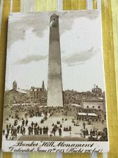 Wedgwood ceramic advertisement calendar. Bunker Hill Monument/1901