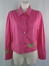 Escada Sport chaqueta señora chaqueta vaquera rosa 36 bordado con perlas de transición chaqueta