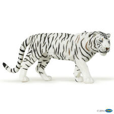 Papo White Tiger solide Jouet en plastique figure Wild Zoo Animal Chat NEUF *