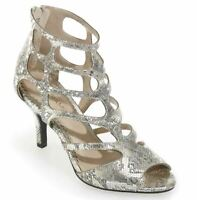 Women's Shoes Andiamo Lakewood Sandals Gladiator Heels 7.5 W 11 M Silver or Gold
