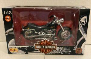 Harley Davidson ~1998 Maisto~ FLSTF Fat Boy ~ 1:18 series 2 ~ Die Cast Metal