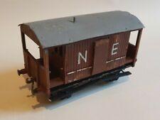 Scratch built vintage O gauge wood/metal NE NER North Eastern Railway brake van