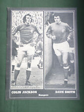 COLIN JACKSON  & DAVE SMITH  - RANGERS   -1 PAGE PICTURE -CLIPPING /CUTTING