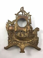 CAST STEEL BRASS COLUMBUS CLOCK FRONT America Nautical Galleon Frame Man Cave