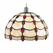 TIFFANY Stained-Glass RED JEWEL Pendant Shade RM4 JUL10P1