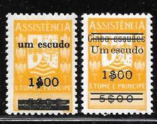 St. THOMAS & PRINCE Isl. Sc RA8-9 LH ISSUE OF 1964 - POSTAL TAX