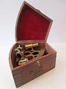 STANLEY LONDON Marine Sextant - Wooden & Brass  - LARGE (Item No. 1914)